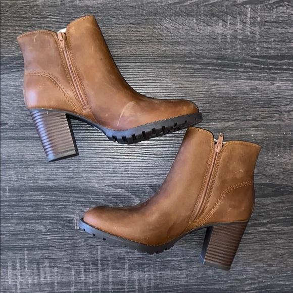 Clarks Verona Trish Dark Tan Leather